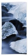 Ice Patches In Stream, Bavarian Forest Beach Towel