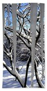 Icicles Beach Towel