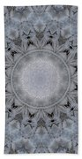 Icy Mandala 4 Beach Towel