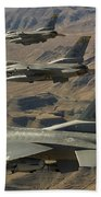 Ighter Jets Return From The Nevada Test Beach Towel