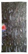Illusion Of Black Rain Beach Towel