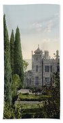 Imperial Castle In Alupku -ie Alupka -  Crimea - Russia - Ukraine Beach Towel