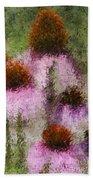Impressionistic Cones Beach Towel