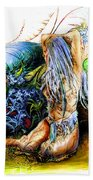In The Garden Beach Towel by Adam Vance