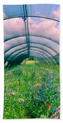 In The Greenhouse Beach Towel