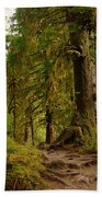 In The Land Of The Giants  Beach Towel