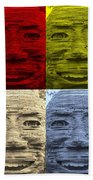 In Your Face In Colors Beach Towel