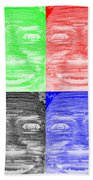 In Your Face In Negative Colors Beach Towel