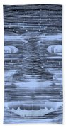 In Your Face In Negative Cyan Beach Towel