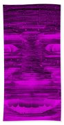 In Your Face In Negative Purple Beach Towel