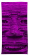 In Your Face In Purple Beach Towel