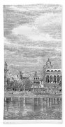 India: Golden Temple, 1858 Beach Towel