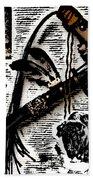 Indian Buffalo Jawbone Tomahawk Beach Sheet