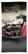 Indian Chief Motorcycle Rare Beach Towel