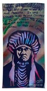 Indigenous Motto Earth Tones Beach Towel