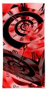Infinity Time Cube Red Beach Towel