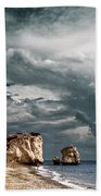 Infrared Aphrodite Rock Beach Towel