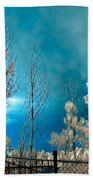 Infrared Summer Storm Beach Towel