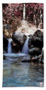 Infrared Waterfall Beach Towel