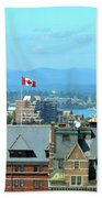 Inner Harbour As Seen  Via Marriot Window Beach Towel