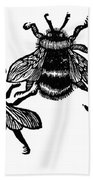 Insects: Bees Beach Towel