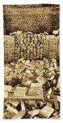 Inside The Historical Brick Kiln Decatur Alabama Usa Beach Towel