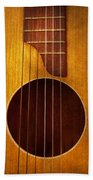 Instrument - Guitar - Let's Play Some Music  Beach Towel