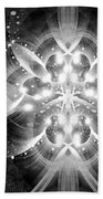 Intelligent Design Bw 1 Beach Towel by Angelina Vick