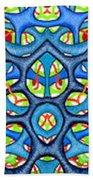 Interconnection In Blue Design Beach Towel