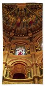 Interiors Of A Cathedral, St. Finbarrs Beach Towel