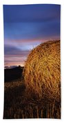 Ireland Hay Bales Beach Towel