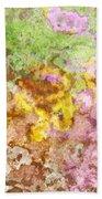Iris Abstract I Beach Towel