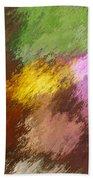 Iris Abstract II Beach Towel