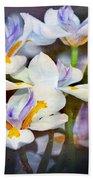 Iris Art Beach Towel