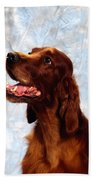 Irish Red Setter Beach Towel