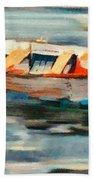 Istrian Fishing Boat Beach Towel