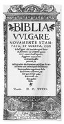 Italian Vulgate, 1541 Beach Towel
