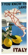 Italy Beach Towel