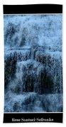 Ithaca Falls New York Closeup Beach Towel