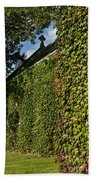 Ivy Covered Chapel Beach Towel