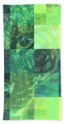 Jaguar Graph Geo Green Beach Towel
