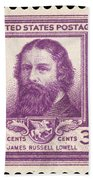 James Russell Lowell Beach Towel