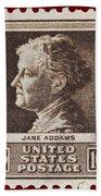 Jane Addams Postage Stamp Beach Towel