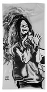 Janis In Black And White Beach Towel
