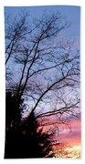 January Silhouette Beach Sheet