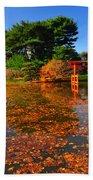 Japanese Garden Brooklyn Botanic Garden Beach Towel