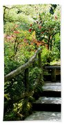 Japanese Garden Retreat Beach Towel