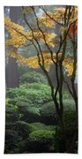 Japanese Gardens Fall Beach Towel