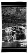 Java Falls Monochrome Beach Towel