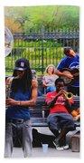 Jazz Band At Jackson Square Beach Sheet